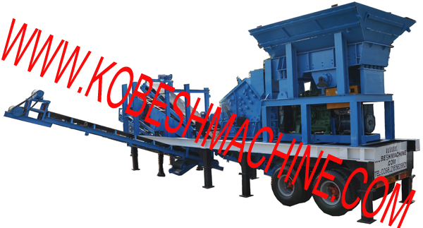 portable crushing and screening plant